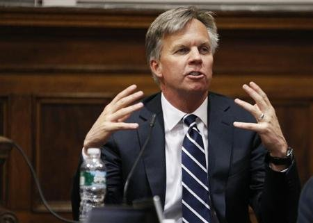J.C. Penney Chief Executive Ron Johnson testifies in New York state Supreme Court in Manhattan March 1, 2013. REUTERS/Thomas Iannaccone/Pool