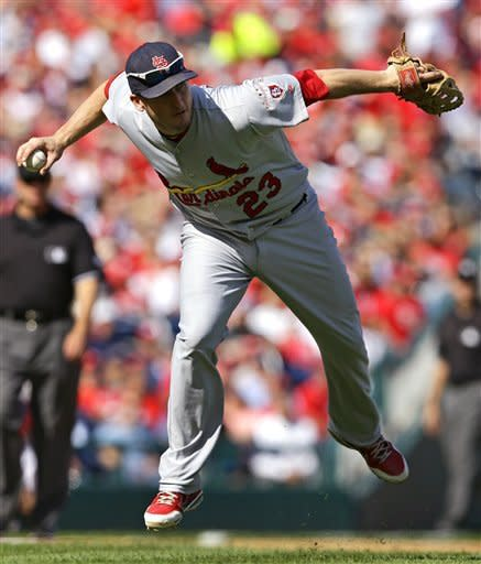 Carpenter pitches Cards past Nats 8-0 for 2-1 lead