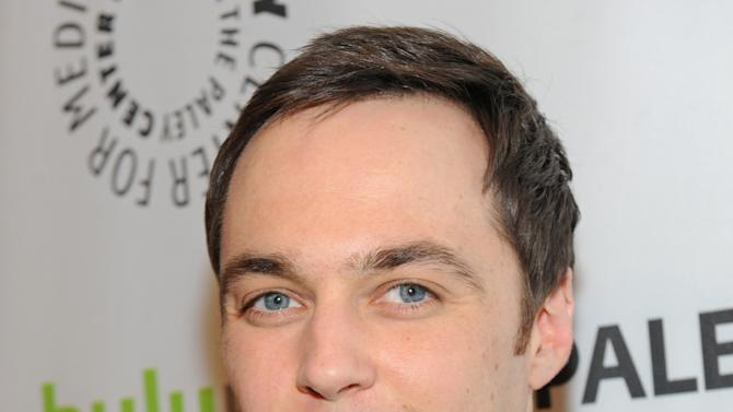 CORRECTS IDENTITY -  Jim Parsons poses on arrival at the Paley Center for Media's PaleyFest, honoring The Big Bang Theory at the Saban Theatre, Wednesday March 13, 2013 in Los Angeles, California. (Photo by Kevin Parry/Invision/AP)