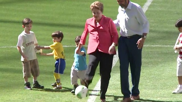 Dilma estrena estadio de Brasilia