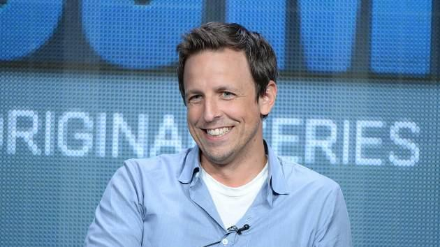 Co-creator/Writer/Actor Seth Meyers speaks onstage during the 'The Awesomes' portion of the Hulu 2013 Summer TCA Tour at The Beverly Hilton Hotel on July 31, 2013 in Beverly Hills -- Getty Images