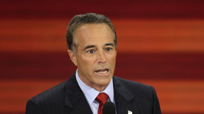 FILE - In this Sept. 3, 2008, file photo, Chris Collins of Buffalo, N.Y., speaks at the Republican National Convention in St. Paul, Minn. New York state may provide the paradigm test this election of the staying power of Republicans who rode a tea party wave to a House majority two years ago _ and for Democrats striving to regain control. The big money involved in the contests reveals the GOP's intent on preserving its foothold in the heavily Democratic state. The National Republican Congressional Committee said that it had reserved $5.25 million for TV time in New York, more than half to defend three freshmen. The rest is going to three districts held by Democrats, including the Buffalo area seat won by Kathy Hochul in a special election upset last year. Collins is challenging for her seat. (AP Photo/Ron Edmonds, File)