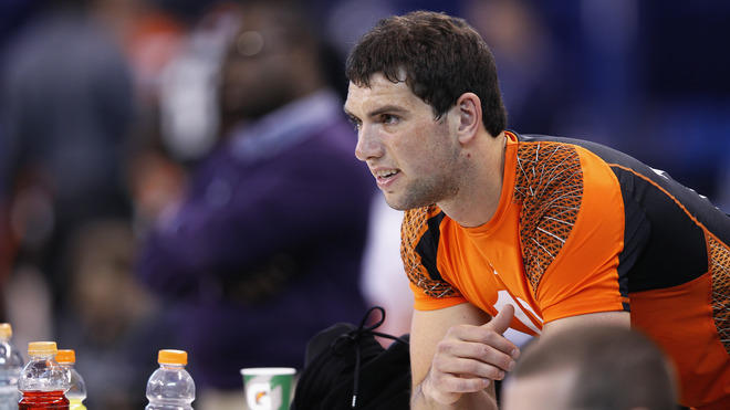 Quarterback Andrew Luck Of Stanford Looks Getty Images