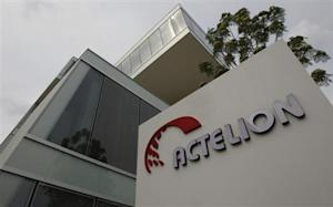 A general view shows Swiss biotech group Actelion Headquarters in Allschwil