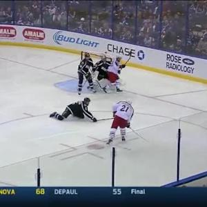 Ben Bishop Save on James Wisniewski (04:23/2nd)