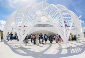 Handout photo shows the exterior of Florida Polytechnic University's Innovation, Science and Technology building pictured in Lakeland