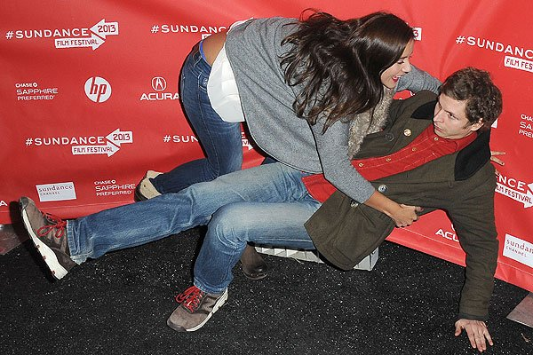 Catalina Sandino and Michael Cera at the 2013 Sundance Film Festival on January 22, 2013, in Park City, Utah. (Photo by C Flanigan/FilmMagic)