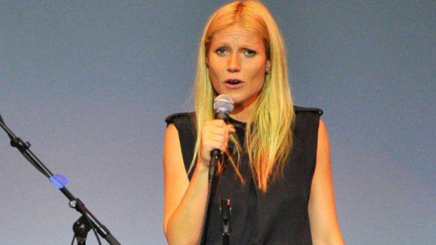 Gwyneth Paltrow performs onstage at the first annual Poetic Justice Fundraiser for the Coalition For Engaged Education at the Herb Alpert Educational Village on May 28, 2014 in Santa Monica, Calif. -- Getty Images