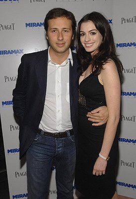 Anne Hathaway and Raffaello Folleri at the New York premiere of Miramax's Beoming Jane