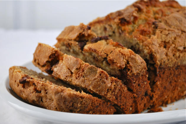 Banana Bread with Ginger and Chocolate Chips