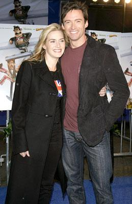 Kate Winslet and Hugh Jackman at the New York premiere of DreamWorks Animation's Flushed Away