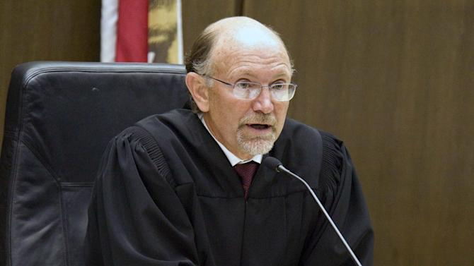 Judge Peter J. Wilson announces the jury's decision after they found the 10 Muslim students guilty of disrupting the Israeli ambassador's university speech about U.S.-Israel relations, a case that stoked a debate about free speech, Friday, Sept. 23. 2011 in Santa Ana, Calif. (AP Photo/Orange County Register, Ken Steinhardt)   MAGS OUT; LOS ANGELES TIMES OUT