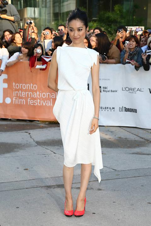Actor Eriko Hatsune  2012 Toronto International Film Festival - 'Emperor' premiere- Arrivals Toronto, Cananda- 14.09.12 **Available for publication in UK, Germany, Austria, Switzerland. Not available