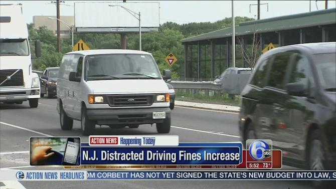 NJ raises fines for using phones while driving