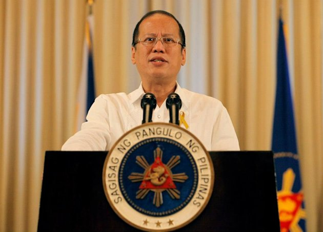President Benigno S. Aquino III announces that a framework agreement, which includes the establishment of a new &#39;Bangsamoro&#39; autonomous political entity, has been forged with the Moro Islamic Liberation Front at the Palace Reception Hall Oct. 7. (Photo by Malacaang Photo Bureau)