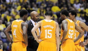 Tennessee played five conference and NCAA tourney games during a 10-day stretch in March. (USAT)