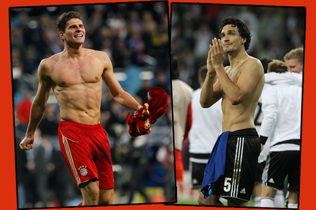 Ohne Worte: Mario Gomez und Mats Hummels (Bilder: Wenn, Getty)