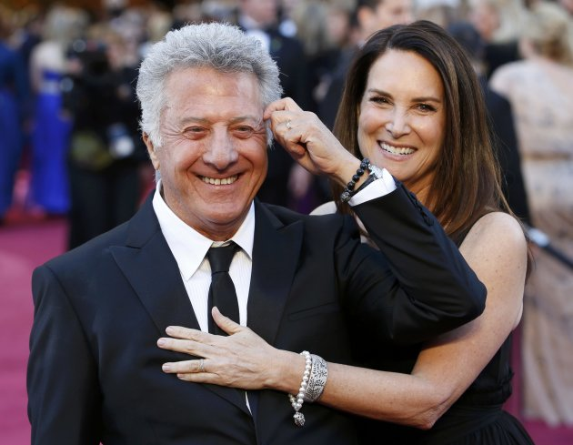 Dustin Hoffman and his wife Lisa arrive at the 85th Academy Awards in Hollywood