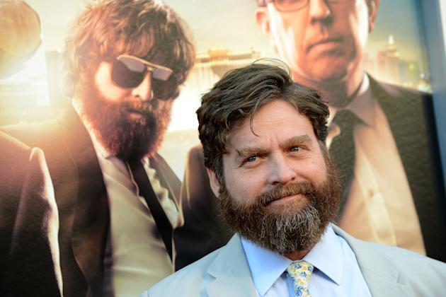 "Zach Galifianakis arrives at the LA Premiere of ""The Hangover: Part III"" at the Westwood Village Theatre on Monday, May 20, 2013 in Los Angeles. (Photo by Jordan Strauss/Invision/AP)"
