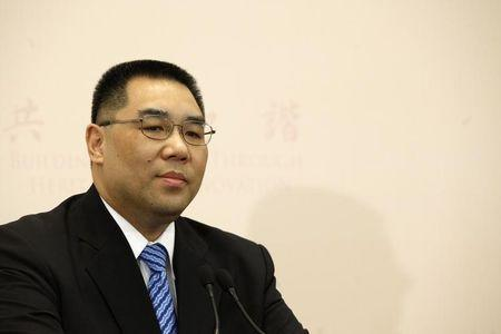 Macau Chief Executive Fernando Chui speaks at a news conference after winning Macau's chief executive election in Macau