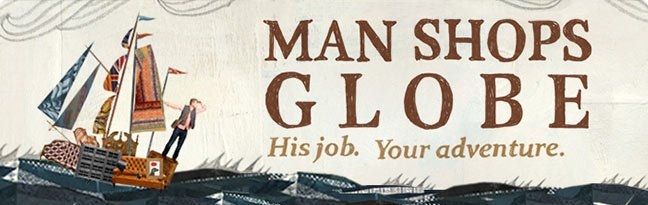 Man Shops Globe