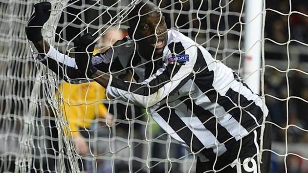 Newcastle United's Demba Ba after missing a chance (Reuters)