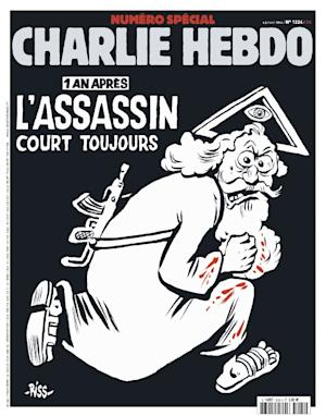 The latest edition of Charlie Hebdo, marking the first …