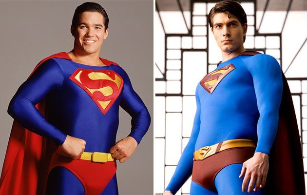 Dean Cain and Brandon Routh
