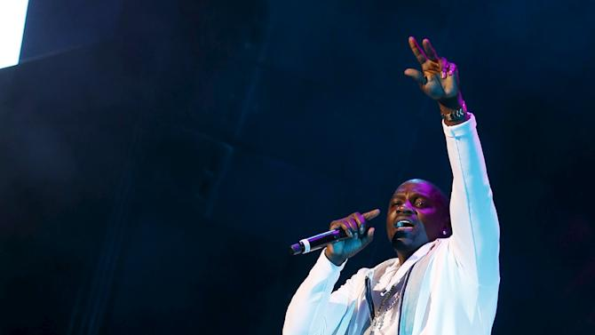 Akon performs during the 14th Mawazine World Rhythms International Music Festival in Rabat