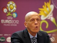 UEFA&#39;s chief refereeing officer Pierluigi Collina during a referees workshop before the Euro 2012 in Warsaw in May 2012. Collina on Wednesday said that a Ukraine effort ruled out against England in their final Euro 2012 Group D match for not crossing the goal line should have been given