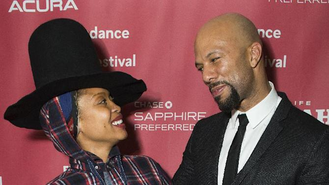 "Erykah Badu and Common attend the ""A Celebration Of Music In Film"" concert during the 2015 Sundance Film Festival on Sunday, Jan. 25, 2015, in Park City, Utah. (Photo by Arthur Mola/Invision/AP)"