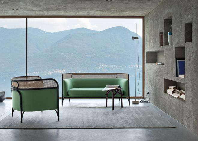 Adventures In Industrial Design: This Chic Furniture Line Joins Textile, Rattan, and Bentwood