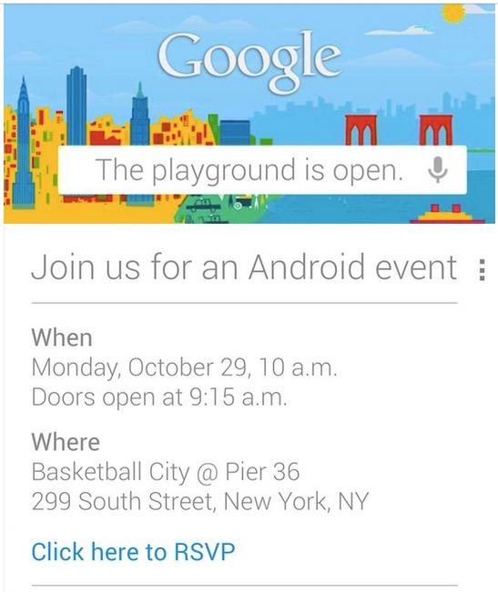 Google Invites Press to Android Event in New York Oct. 29