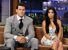 Kris Humphries and Kim Kardashian appear on 'The Tonight Show With Jay Leno' at NBC Studios in Burbank, Calif. on October 4, 2011 -- Getty Premium