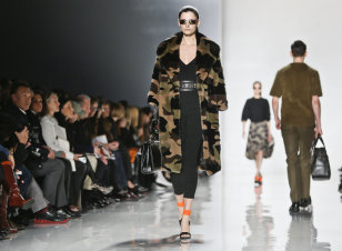 Michael Kors line at fashion show: Credit AP