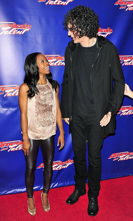 Gabby Douglas Dwarfed by Howard Stern on America's Got Talent!