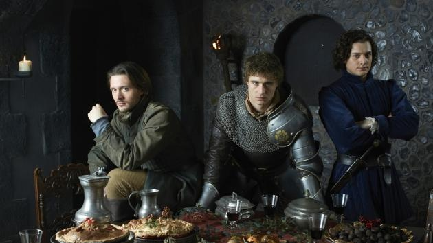 David Oakes, Max Irons and Aneurin Barnard in the Starz series 'The White Queen'  -- Starz