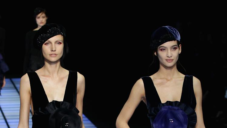 Emporio Armani: Runway - Milan Fashion Week Womenswear Autumn/Winter 2012/2013