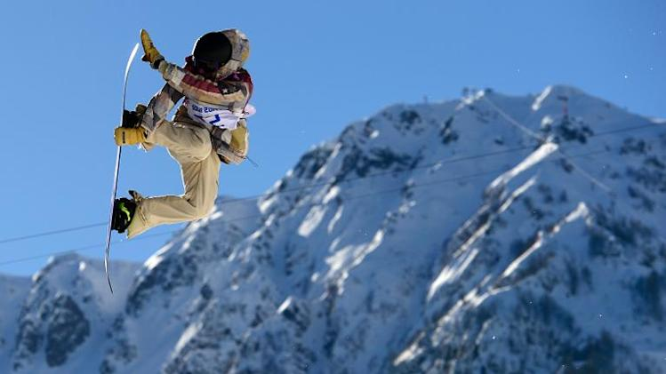 Gold medallist, Sage Kotsenburg of the US, competes in the Men's Snowboard Slopestyle Final at the Rosa Khutor Extreme Park during the Sochi Winter Olympics, on February 8, 2014