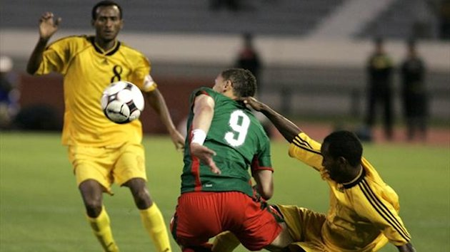 Ethiopia (in yellow) against Morocco (Reuters)