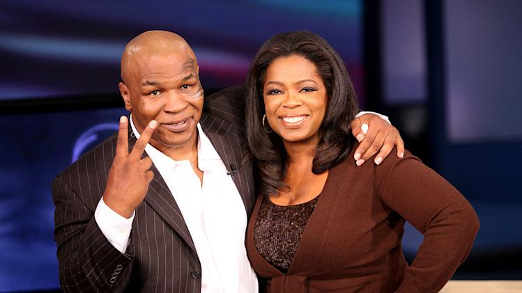 "Mike Tyson talks about his marriage to Robin Givens and how he felt after biting Evander Holyfield on ""The Oprah Winfrey Show,"" Monday, October 12, 2009."