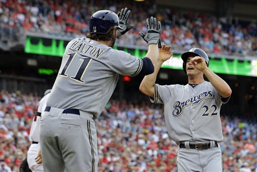 Lohse, Brewers quiet Nationals bats again, win 4-1