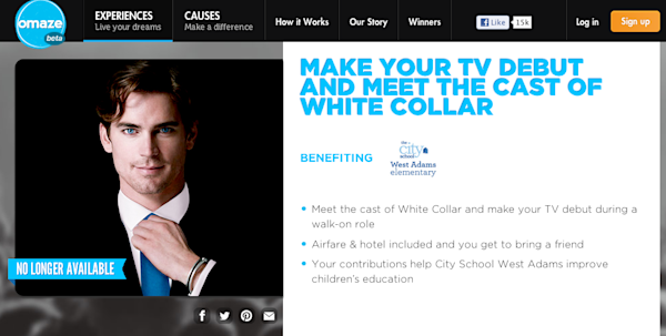 Omaze White Collar