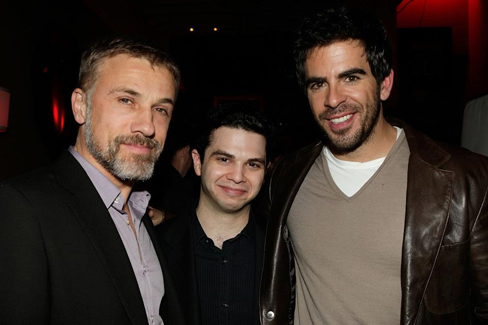 Inglourious Basterds DVD Launch party 2009 Christoph Waltz Samm Levine Eli Roth