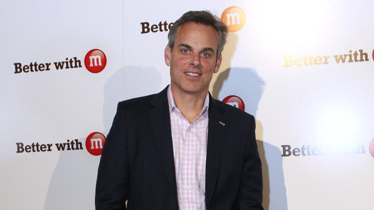 "ESPN personality Colin Cowherd makes an apperance at the ""Better With M"" Kick-Off Event on Thursday, Jan. 31, 2013 in New Orleans. (Jonathan Bachman / AP Images for Mars Chocolate North America)"