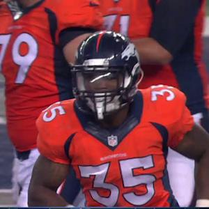 Denver Broncos running back Kapri Bibbs 9-yard touchdown run