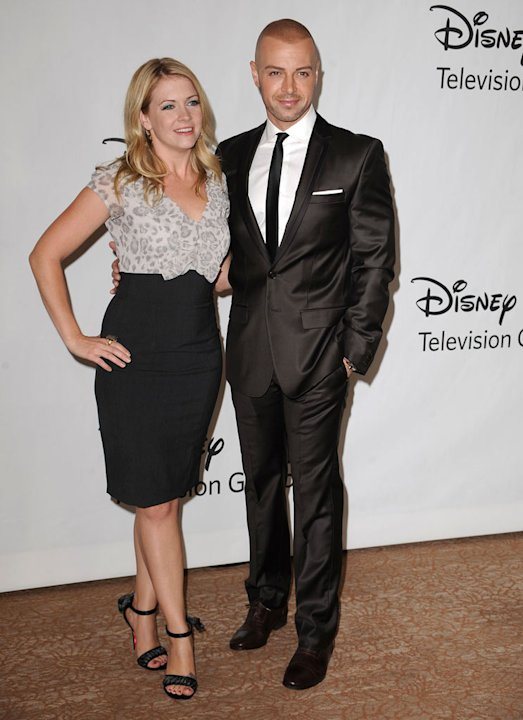"""Melissa & Joey's"" Melissa Joan Hart and Joey Lawrence arrive at NBC Universal's 2010 TCA Summer Party on July 30, 2010 in Beverly Hills, California."