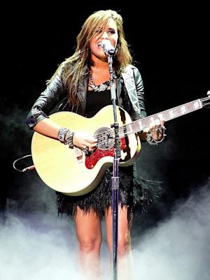 Demi Lovato at the Jonas Brothers Live In Concert on September 2nd, 2010.