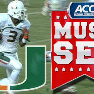 Miami's Stacy Coley Keeps Balance On 73-Yard Touchdown | ACC Must See Moment