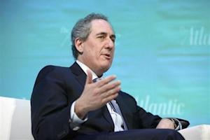 Froman takes part in an onstage interview during The Atlantic Economy Summit in Washington